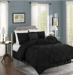Chezmoi Collection Sydney 7-piece Pintuck Bedding Comforter Set