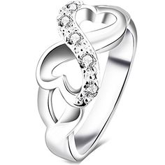 "BOHG Jewelry Womens 925 Sterling Silver Plated Cubic Zirconia CZ Heart Infinity Symbol Ring Wedding Band Size 7 - Including one black velvet bag printed ""BOHG"".  - http://ehowsuperstore.com/bestbrandsales/jewelry/bohg-jewelry-womens-925-sterling-silver-plated-cubic-zirconia-cz-heart-infinity-symbol-ring-wedding-band-size-7"