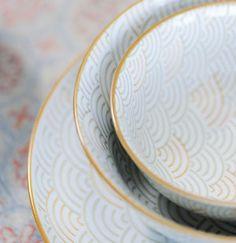 Assiette en fine porcelaine 4 motifs Bohême Jardin d'Ulysse