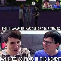 """I love how he says """"one of your traits"""" instead of """"just like you"""" because that shows how Phil sees him as a result of both him and Dan British Youtubers, Best Youtubers, Hello Internet, Dan And Phill, Phil 3, Danisnotonfire And Amazingphil, Tyler Oakley, Phil Lester, Dan Howell"""
