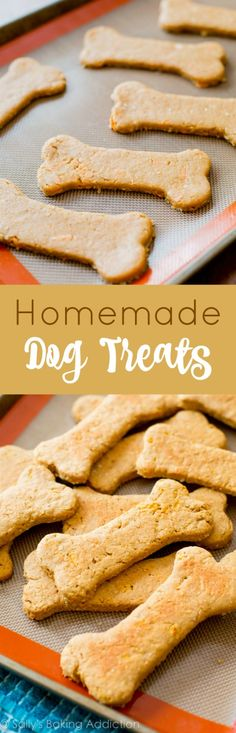 Soft Peanut Butter Carrot Dog Treats - They LOVE these bones! Homemade, soft, peanut butter carrot flavor!