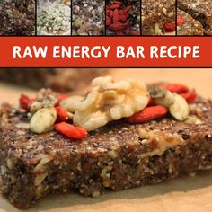 Welcome to Meatless Monday! Inspired by our very own in-house blogger, these mouthwatering organic and raw energy bars, which are free of any gluten, dairy, egg or soy!