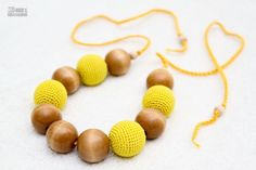 Teething Necklace  breastfeeding necklace  yellow and by MagazinIL, $28.00