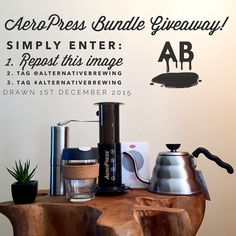 AeroPress Giveaway Time! Enter Simply 1 Repost 2 Tag @alternativebrewing & #AlternativeBrewing! Good Luck! Winner is Drawn at 6pm AEST on the 1st of December 2015. Unlimited Entries…