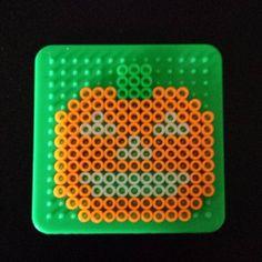 Halloween pumpkin perler beads by c_stocking