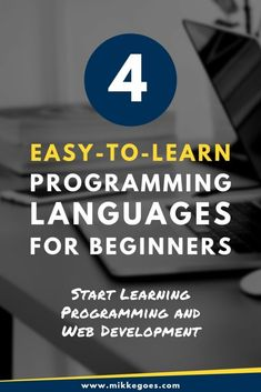 4 Best Computer Programming Languages for Beginners in 2019 - How can you learn to code faster? Achieve your goals quicker with these four but easy-to-learn prog - Computer Programming Languages, Computer Coding, Learn Programming, Best Computer, Computer Technology, Energy Technology, Technology Gadgets, Computer Basics, Computer Science