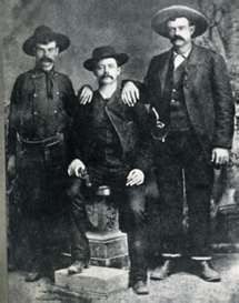 Sam Bass and fellow train robbers.
