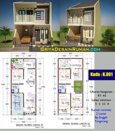 House Plans Mansion, My House Plans, House Layout Plans, Duplex House Plans, House Layouts, Small House Plans, House Floor Plans, Two Story House Design, Small House Design