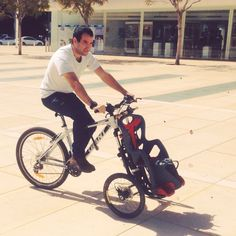 Test drive , it works!  #TreGo #tregobikes #cargobikes #bicycle