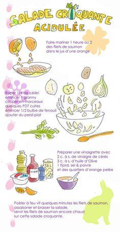 salade croquante saumon