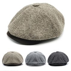 f62e9532b1c52 Men Women Retro Octagonal Hat Warm Tweed Beret Caps Comfortable Duck Hats  Casual Forward Caps is hot sale on Newchic Mobile.