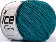 Fiber Content 60% Bamboo 40% Cotton Teal Brand Ice Yarns fnt2-50545