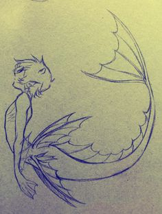 Pencil Drawing - Other Pencil Drawing Fixing Leading .- Bleistiftzeichnung – Andere Pencil drawing – Other Cute Drawings, Drawing Sketches, Drawing Tips, Drawings Of Fish, Sketching, Mermaid Drawings, Mermaid Sketch, Manga Mermaid, Drawings Of Mermaids