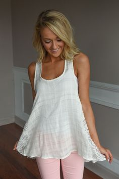 Always on My Mind Lace Tank – The Pulse Boutique