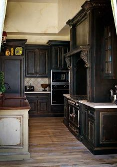 Custom Black Kitchen Cabinets