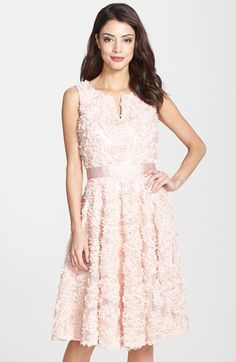 bfc6c5a6303 Adrianna Papell Petal Chiffon Fit   Flare Dress