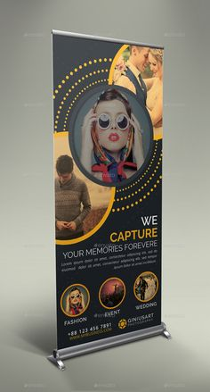 Photography Roll Up Banner Bundle - Graphic Vital Pull Up Banner Design, Standing Banner Design, Pop Up Banner, Roll Up Design, Graphic Design Flyer, Flyer Design, Standee Design, Fashion Show Poster, Banner Design Inspiration
