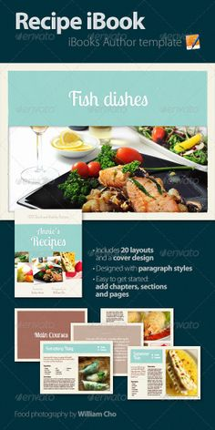 Recipe iBook by Romaa Roma, via Behance