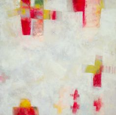 """Daily Painters Abstract Gallery: Contemporary Abstract Mixed Media Painting """"Tulipmania #6"""" by Santa Fe Artist Annie O'Brien Gonzales"""