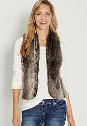 faux fur vest with sweater knit back - maurices.com