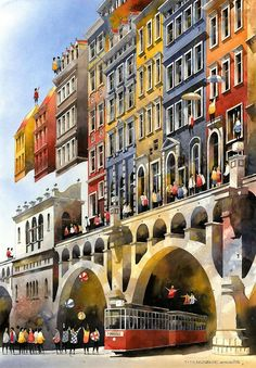 Architectural Watercolors by Tytus Brzozowski