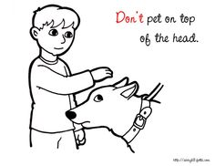 Dog Safety coloring pages & literature for kids | Dog ...