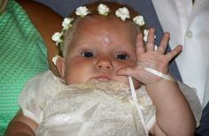 Baby baptism Sweet flower crown instead of a bonnet  O:)