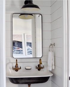 "1,673 Likes, 21 Comments - Coastal Interiors (@coastalinteriors) on Instagram: ""The cutest little bathroom nook via @amystudebakerdesign! ⚓️ Show some ❤️LOVE❤️ to their work with…"""