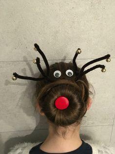 Carnaval - special hair day - gekke kapsels - Rudolph