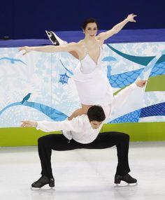 "Tessa Virtue & Scott Moir. The ""goose"" at the 2010 Olympics."