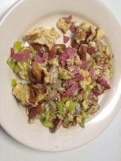 Omelet#prei#salami#