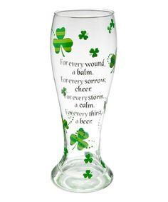 Take a look at this Ganz 'For Every' St Pat's Pilsner Glass by GANZ on #zulily today!