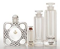 FROM THE ESTATE OF SHIRLEY JACOBS ALTER R. LALIQUE Four Art Deco perfume bottles including three sizes of '