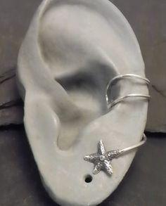 Sterling Star EAR CUFF    STARFISH  Silver Ear by SunnySkiesStudio, $24.95