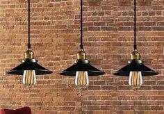 Lampara Colgante Vintage Tipo Industrial Casa Retro, Karaoke, Industrial Style, Lightning, Light Fixtures, Greenery, Lamps, Houses, Gardening