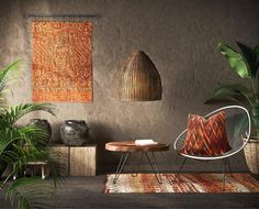 12 Inspiring Ways To Creatively Display Your Textile Collection – Lamour Artisans Gift Shop Interiors, African Living Rooms, Sunflower Kitchen Decor, Southern Living Homes, Ikea Frames, Color Studies, Tropical Decor, House Colors, Decor Styles