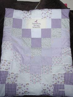 Personalised cot quilt