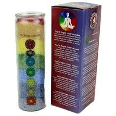 Candela dei 7 Chakra con oli essenziali-NEW AGE-REIKI-AROMATERAPIA-MEDITAZIONE