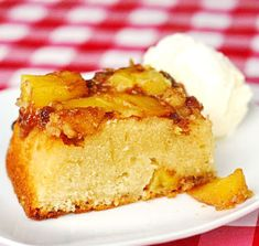 Pineapple Upside-Down Cake - an old standard recipe that deserves to be revisited, especially when made with fresh golden pineapple and served warm with vanilla bean ice-cream.