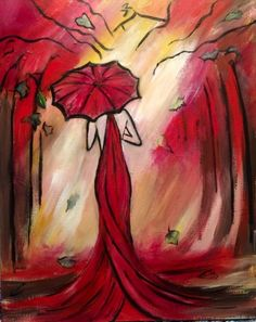 Oh, That Lady in Red at Pete's Restaurant and Brewhouse (Natomas) - Paint Nite Events near Sacramento, CA>