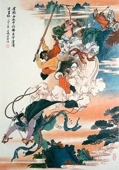 Monkey Thrice Smashes the White Bone Demon - Art Print Japanese Prints, Japanese Art, Tattoo Japanese, Ballet Posters, Painting Prints, Art Prints, King Tattoos, Journey To The West, Into The West