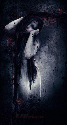 ___╋ I love Gothic ╋___ Dark Fantasy Art, Dark Gothic Art, Fantasy Kunst, Anime Fantasy, Gothic Artwork, Gothic Wallpaper, Arte Horror, Horror Art, Image Triste