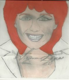 Suzanne Rogers  Susan Seaforth Hayes done with prisma color Colored pencils and charcoal pencil
