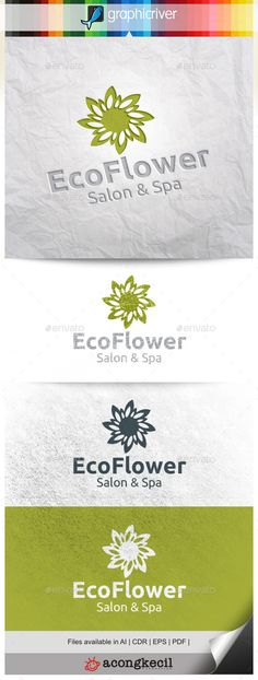 Eco Flower — Vector EPS #medical #consulting • Available here → https://graphicriver.net/item/eco-flower-/11309464?ref=pxcr
