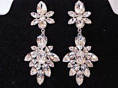 Repin if you love these Swarovski Crystal statement earrings! http://thepageantplanet.com/category/pageant-wardrobe/