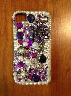 Purple version of blinged out case for my niece