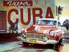 Plan A Trip To Cuba In 10 Easy Steps! I am going to Cuba in 2 days! I can't wait! As I mentioned in my previous post, Cuba has been on my husband's travel bucket list for quite some time. Cuban Cars, Havana Nights Party, Viva Cuba, Havanna, Art Carte, Retro Poster, Cuba Travel, Havana Cuba, Vintage Travel Posters