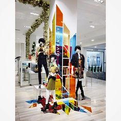 "SAKS FIFTH AVENUE, Eaton Centre, Toronto, Canada, ""Leftover delights fit for a new installation!"", pinned by Ton van der Veer"