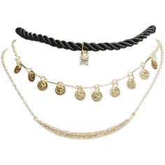 Bohemian Choker Trio (5.830 CRC) ❤ liked on Polyvore featuring jewelry, necklaces, accessories, chokers, gold, layered chain necklace, multi layer necklace, bohemian jewelry, mini necklace and boho necklace