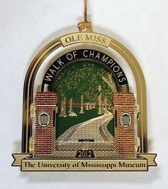 University of Mississippi Museum's new Ole Miss ornament! Call 662-915-7073 to order